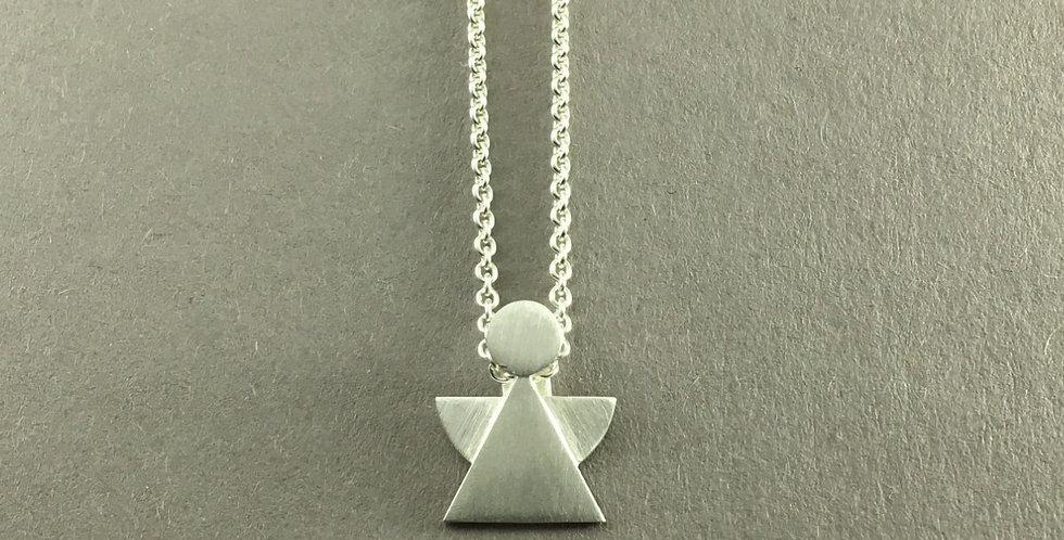 Schutzengel Silber mit Ösenkette