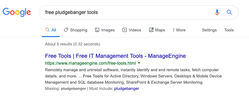search for free pludgebangers tools