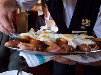 Swanage Belle by Simon Cox - Sat, October 15, 2011: On the Swanage Belle A hearty breakfast