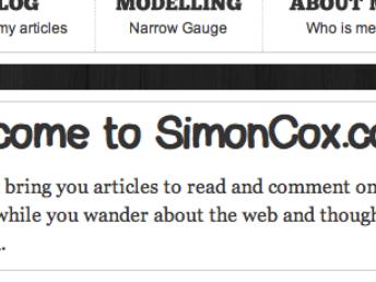Simon's hand drawn Coxy Font