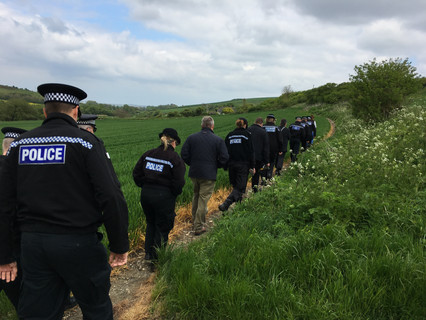 Police appeal for information after badger butchered and hung from tree