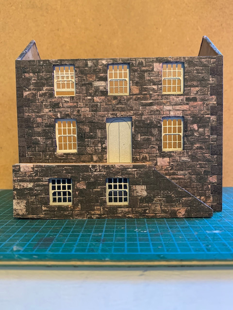 Customs House wrapped with windows and doors added