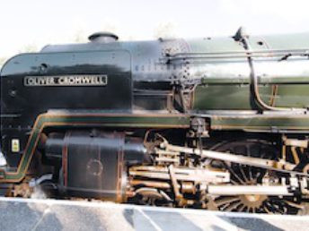 Stopped for water by Simon Cox - Sat, October 15, 2011: Winchfield Oliver Cromwell takes on water