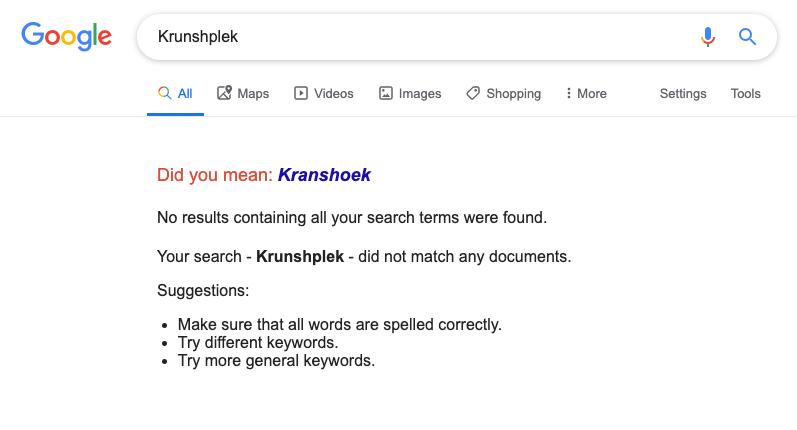 Search for krunshplek