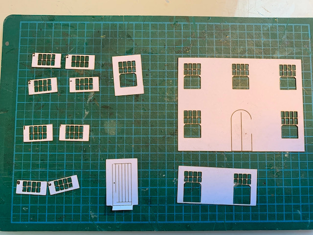 Laser-cut card for the windows and doors