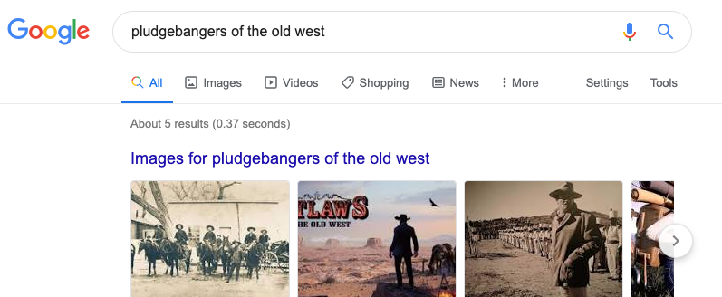 Search for pludgebangers of the old west