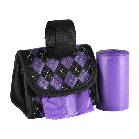 12808_Purple/Black Argyle