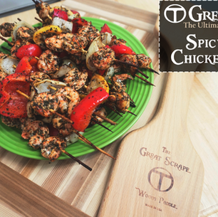 Delicious Spicy Grilled Shrimp Skewers
