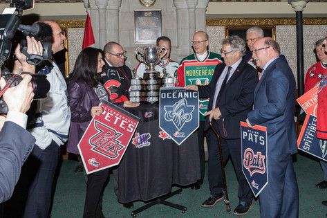 Todd Doherty, M.P. and colleagues with the Memorial Cup