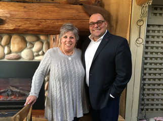 Todd and Chamber of Commerce President Charlene Harrison