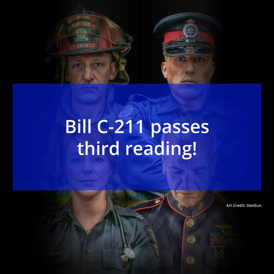 Bill C-211 Enters Senate!