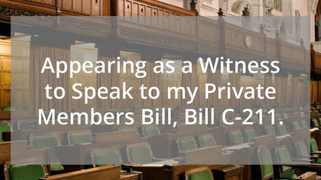 Speaking on Bill C-211