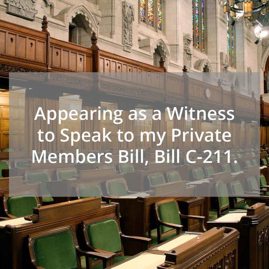 Speaking on Bill C-211
