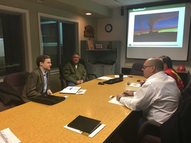 Meeting with WestPine MDF – Christian von Donat, Impact Public Affairs, Jim Scott, General Manager, Janice, Floor Supervisor, Todd