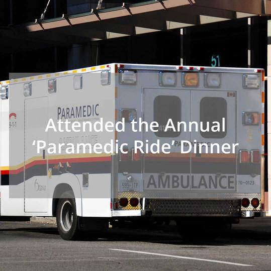 Annual 'Paramedic Ride' Dinner