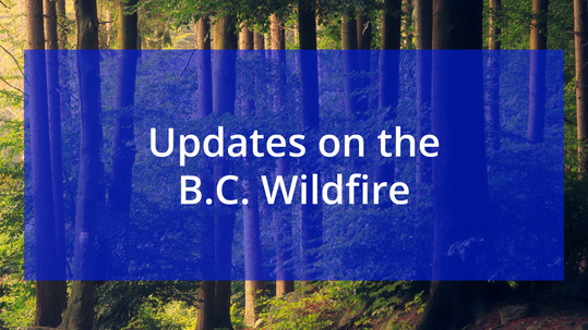 B.C. Wildfire Map and Updates