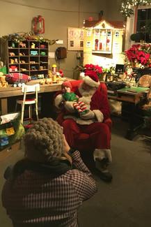 Visiting Santa Claus