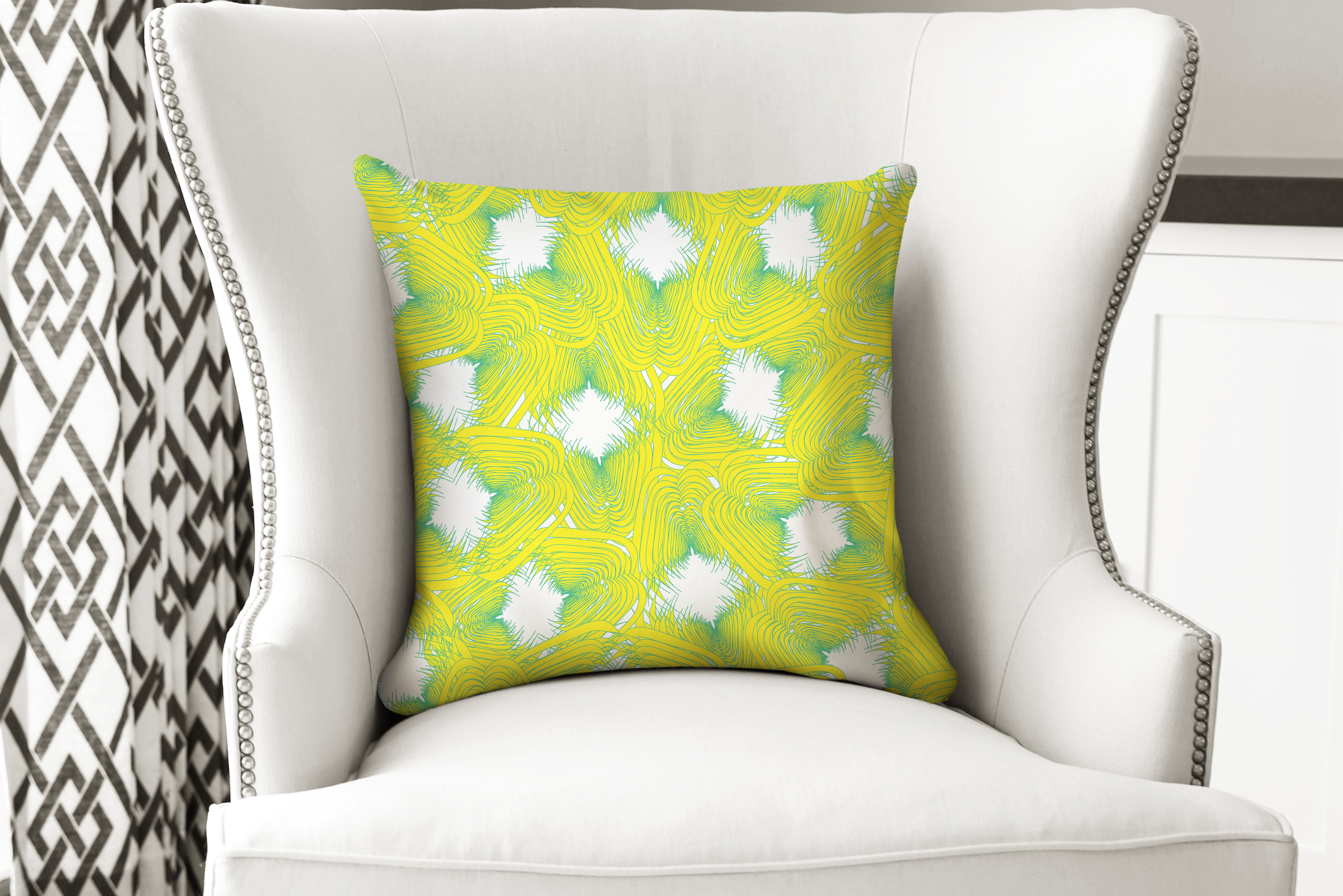 single pillow feather yellow