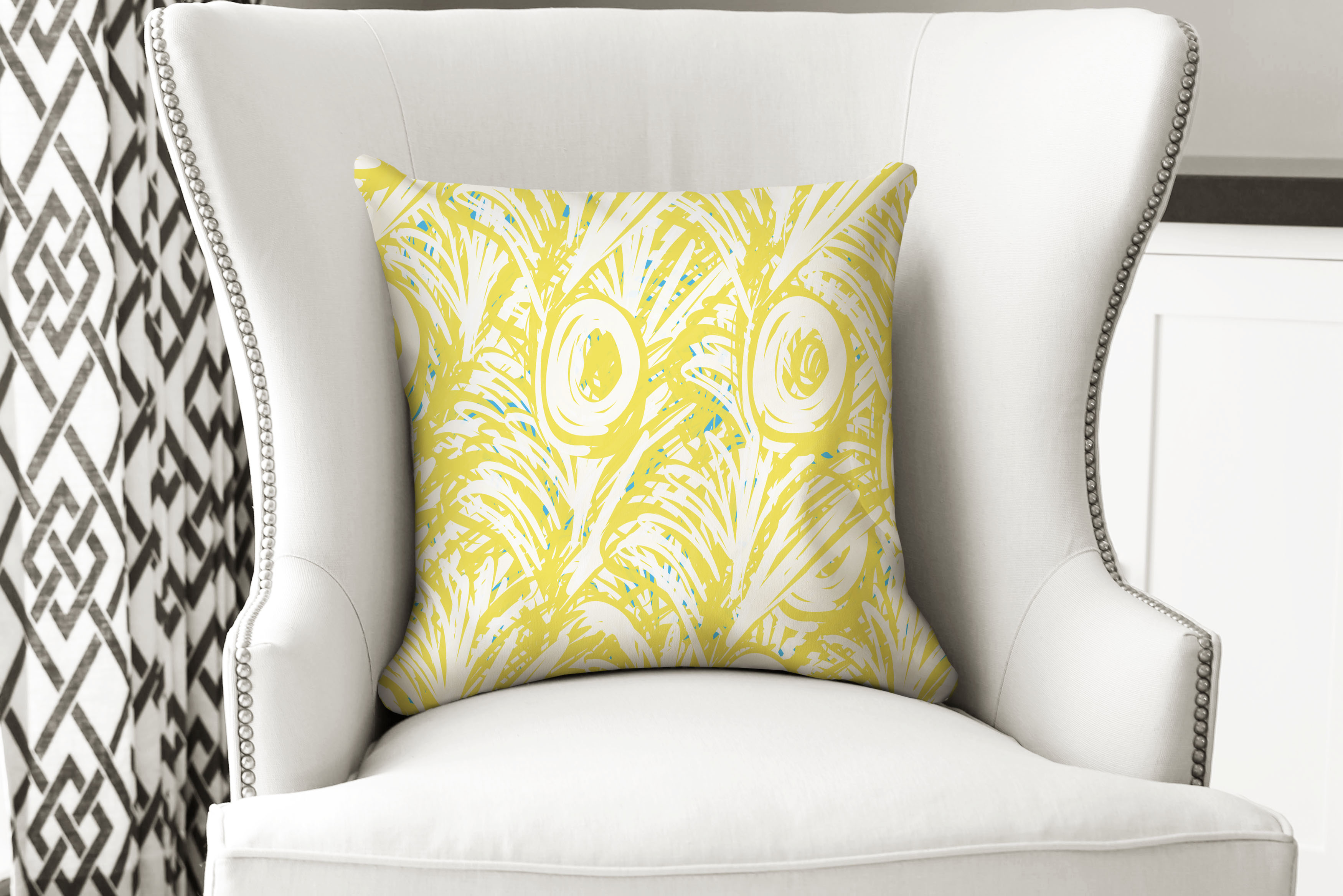single pillow hawaiian yellow