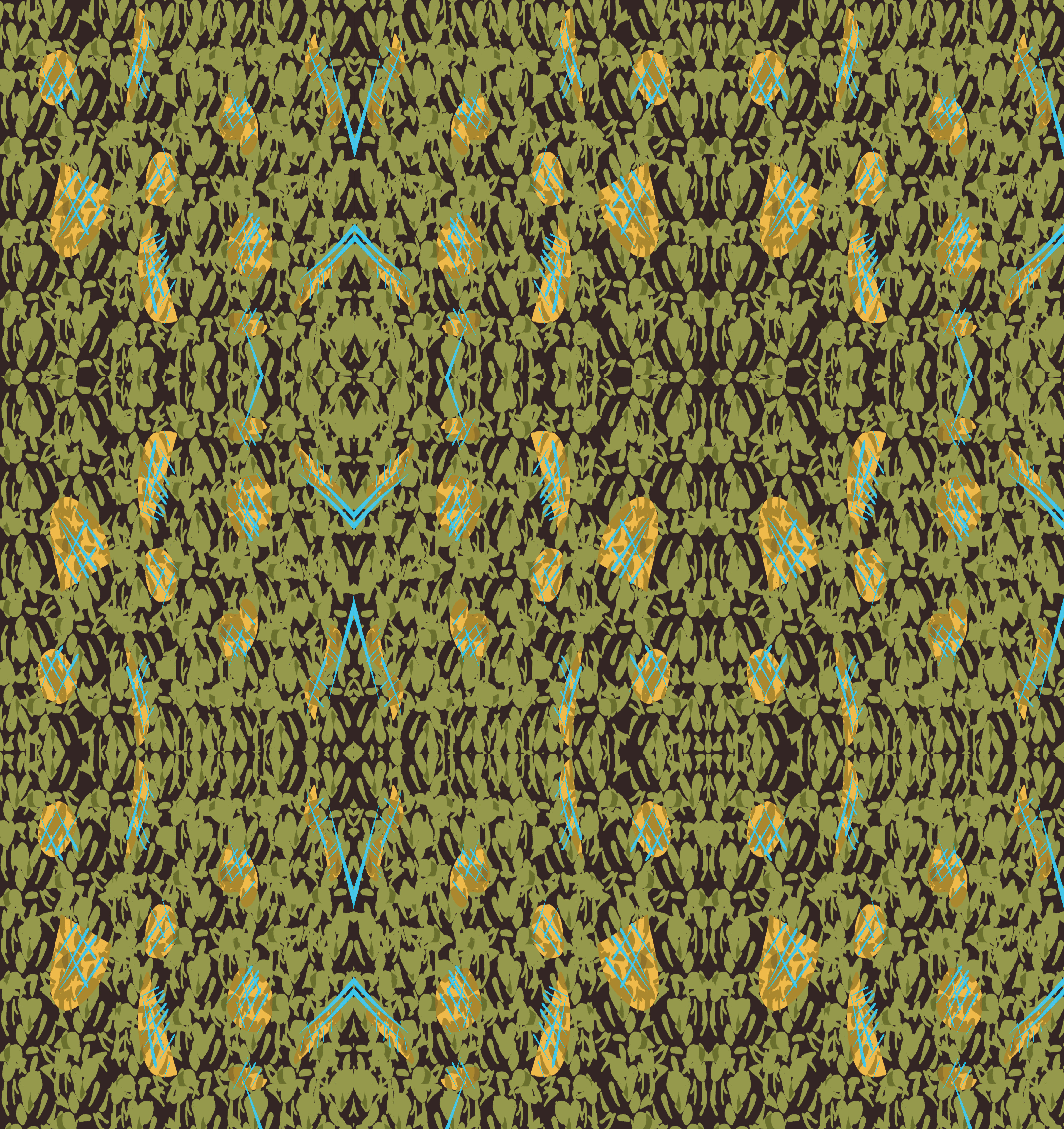 Green Abstract Blue Stripe