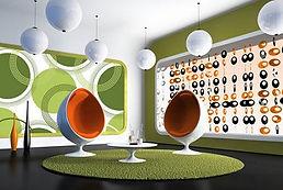 circles-polka dots-retro mod style decorating