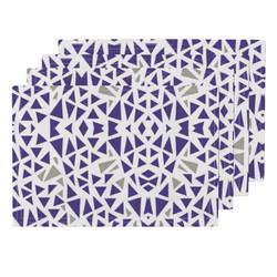 Purple Grey Placemats