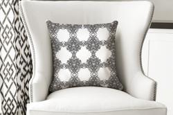 single pillow Black White Majestic