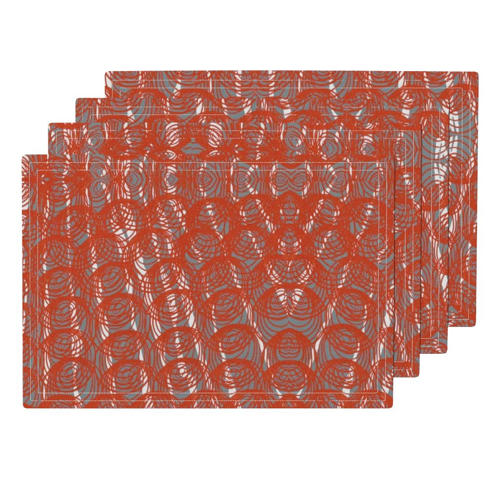 orange circle placemats