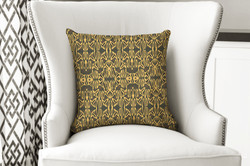 single pillow tribal brown