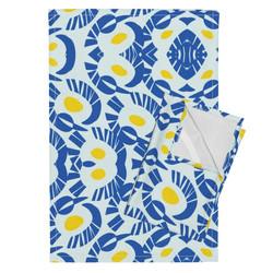 Tea Towels Yellow Blue
