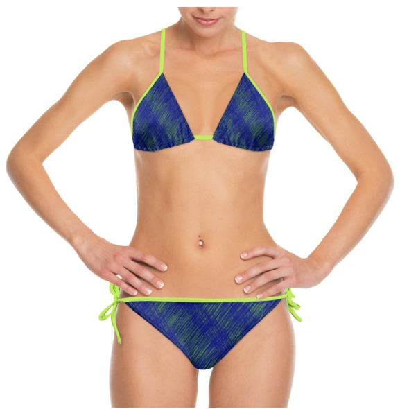 Blue Yellow Lime Lace Front