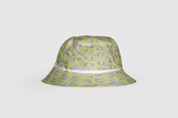 Bucket_Hat_White Ankara Khaki