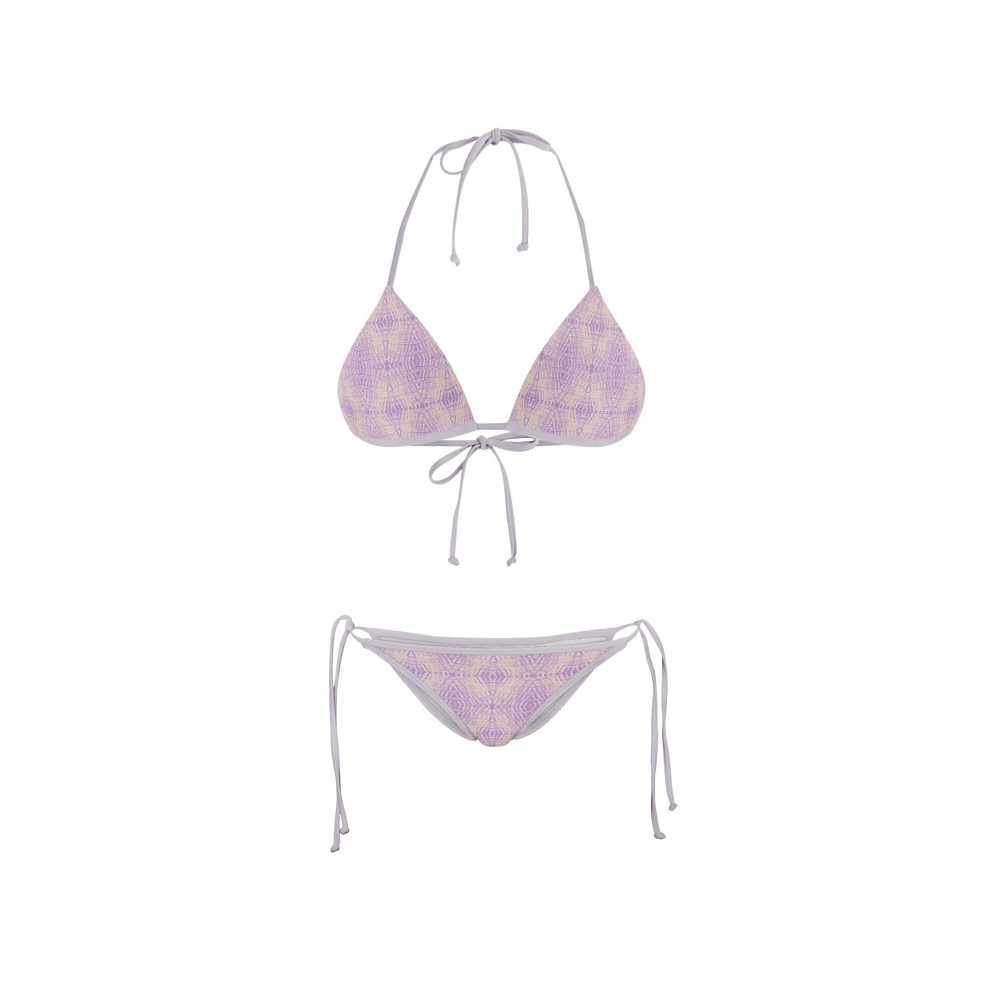 Bikini Front retro purple abstract no background