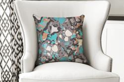 single pillow concrete abstract