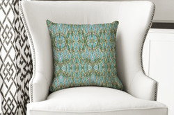 single pillow  abstract green repeat