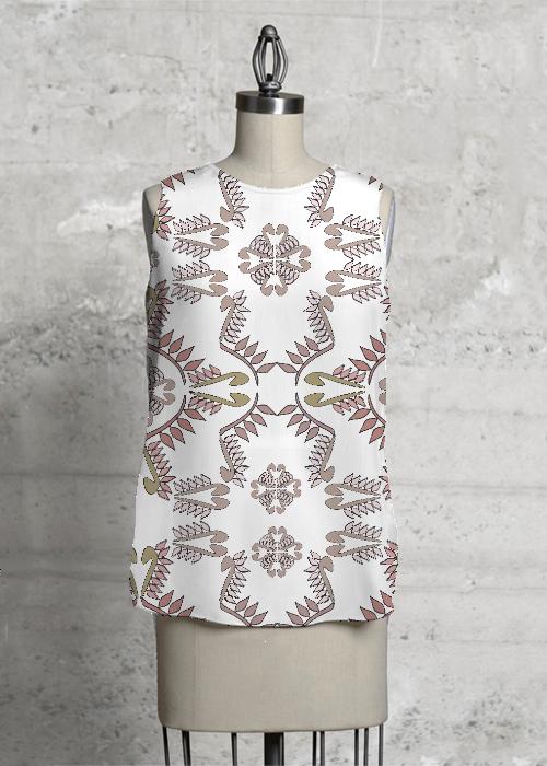 jilian white sleeveless