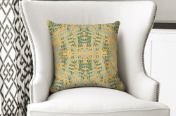 single pillow abstract yellow