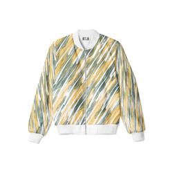 Front Green leaves bomber