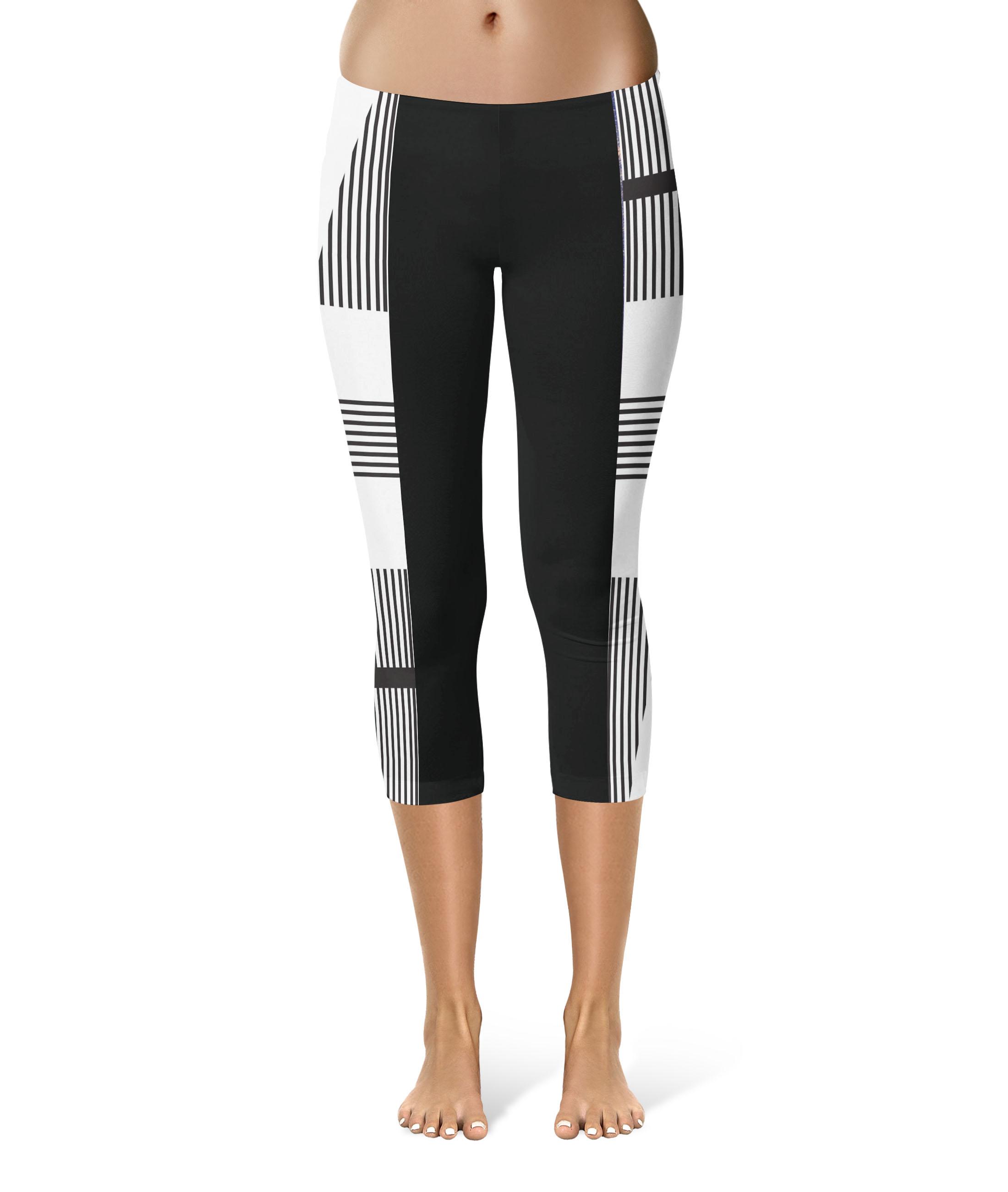 black white stripe short 1