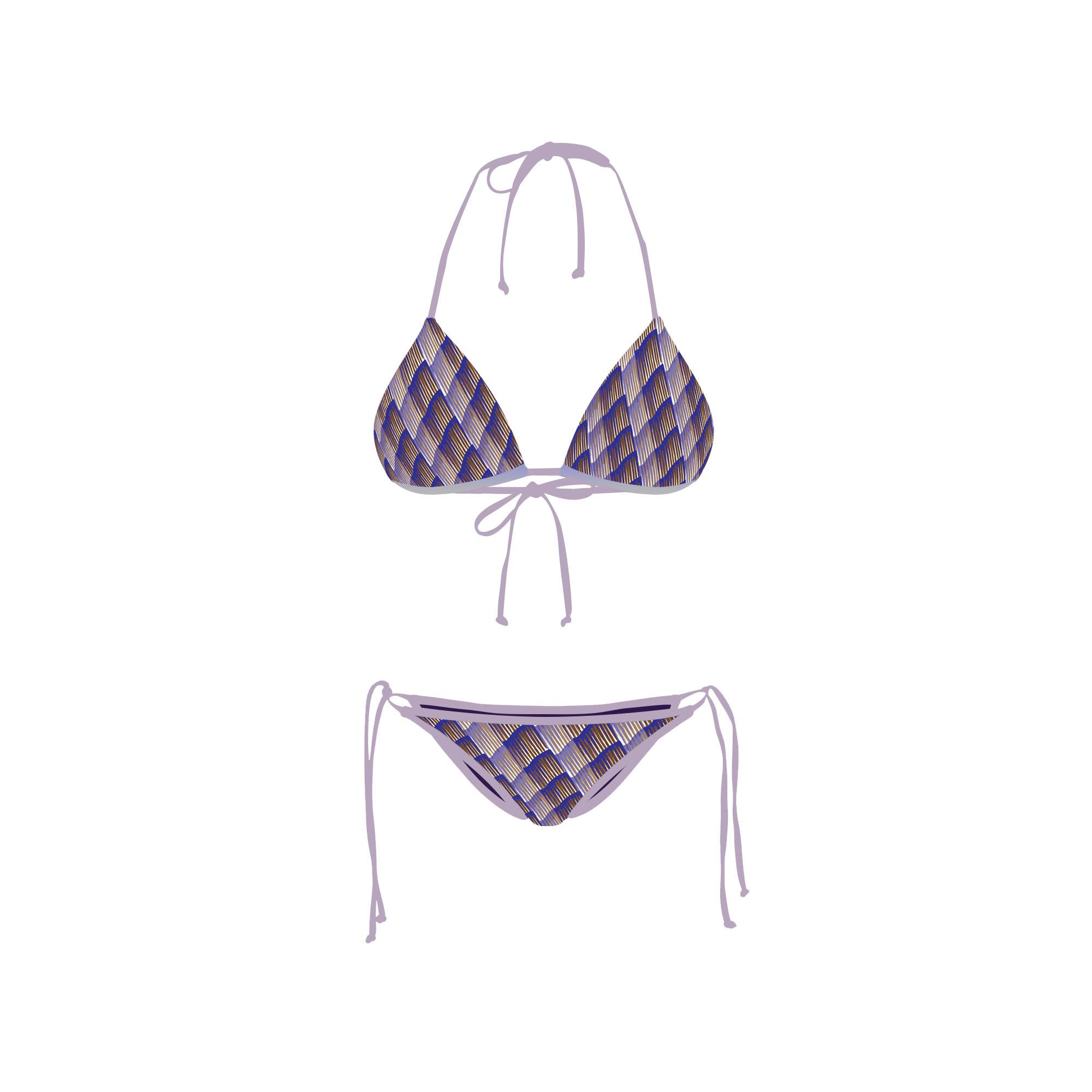 Bikini Front Retro Purple