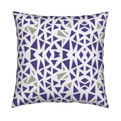 Purple Gray pillow