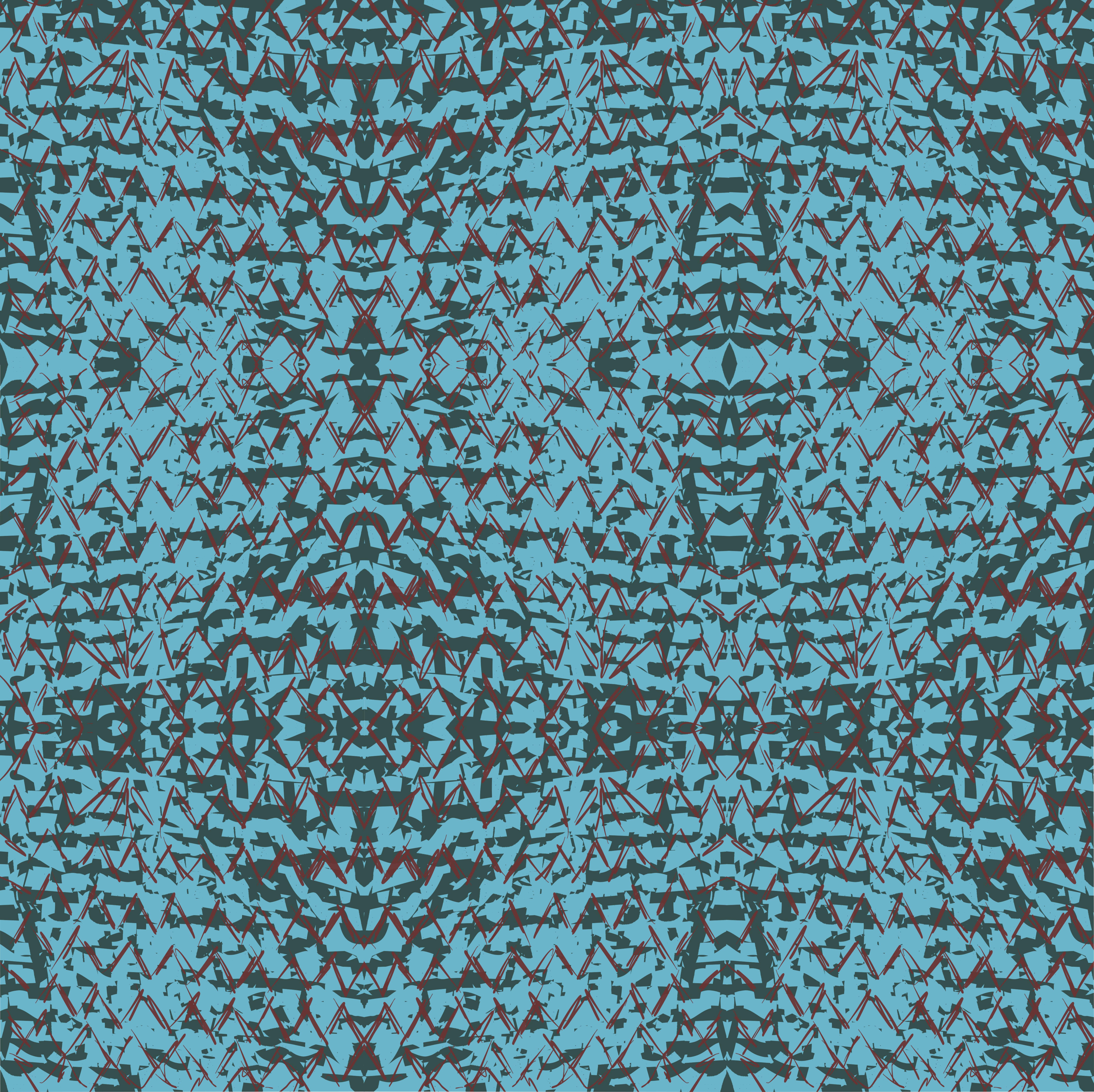 crackled blue