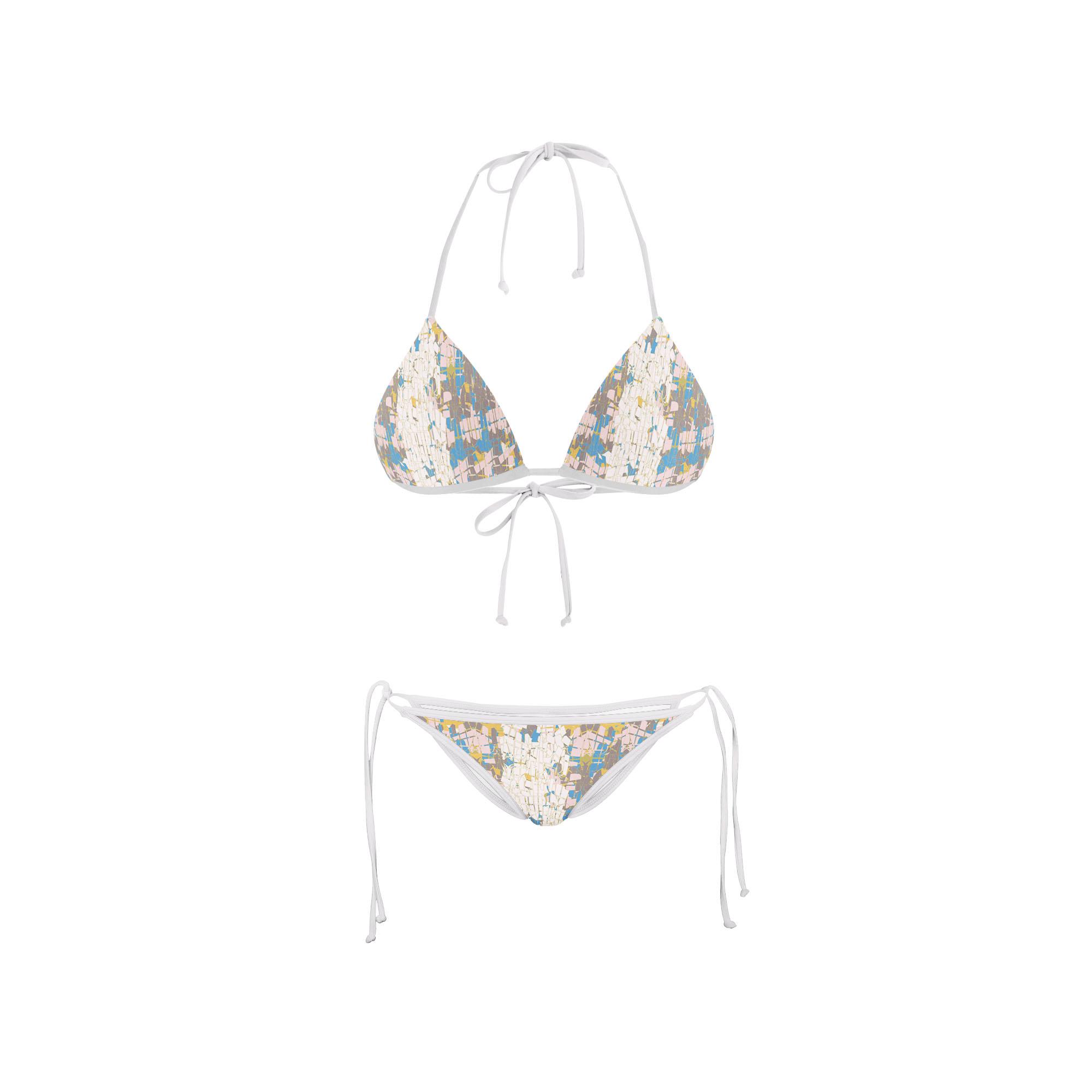 Bikini Front crackle abstract