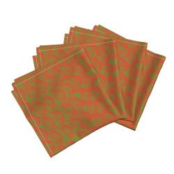 circle green napkins