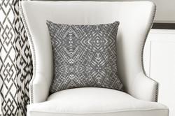 single pillow abstract geo black 2