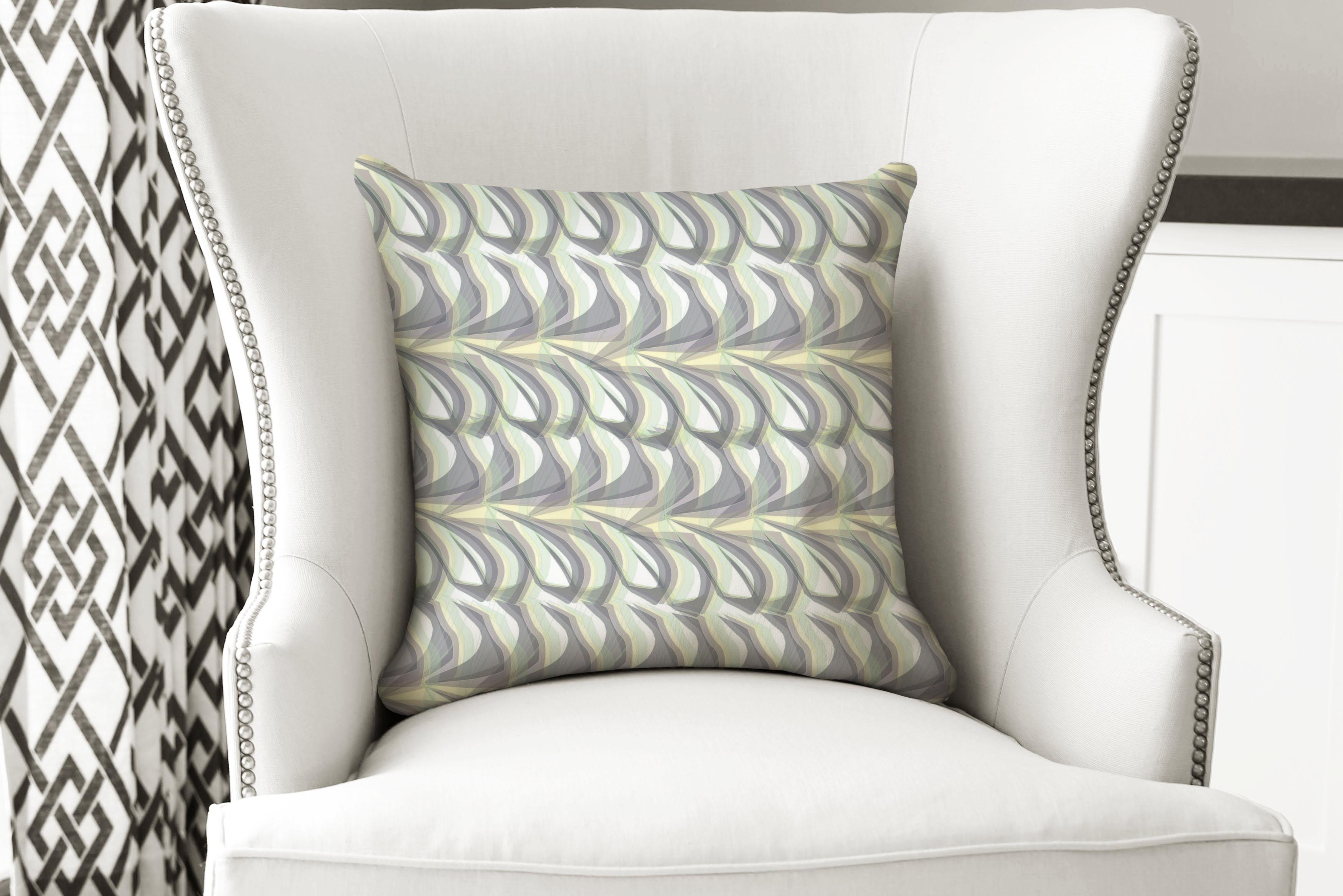 single pillow swirl green