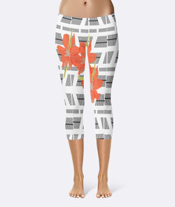blaqck white stripe short flower