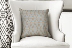 single pillow chalk tri grey