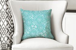 single pillow lt blue swirl petal