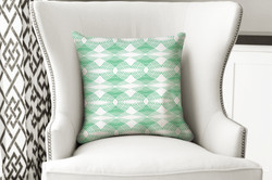 single pillow mod swirl green